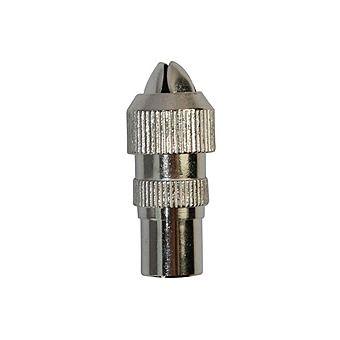 Jegs PPJ245 Metal Male Coax Plug Pack of 2