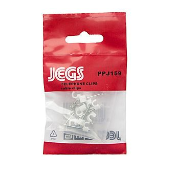 Jegs PPJ159 3.5mm Round Cable Clips Pack of 10
