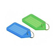 Key Tag With Insert Pack of 50 Assorted Colours