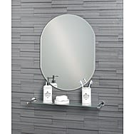 Showerdrape Lincoln Oval Mirror with Bevelled Edge