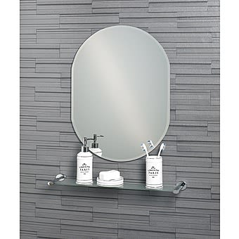 Picture of Showerdrape Lincoln Oval Mirror with Bevelled Edge