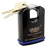 Draper 64198 Expert 61mm Heavy Duty Padlock with Shrouded Shackle