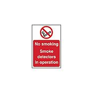 Centurion No Smoking, Smoke Detectors Operation SAV Sign 300 x 200mm