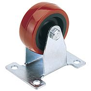 Draper 65512 50mm Dia. Fixed Plate Fixing Polyurethane Wheel