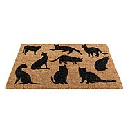 Gardman 82670 Cat Montage Coir Door Mat