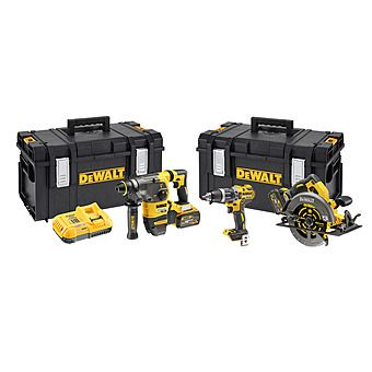 DeWalt DCK357T2 Triple Pack DCD796 + DCH333 + DCS575 With 2 x 6.0Ah FLEXVOLT Batteries