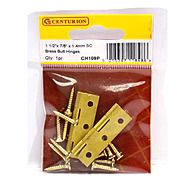 Centurion CH109P 38 x 22 x 1.4mm Self Coloured Brass Butt Hinges