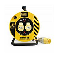 Defender E86450 110v 25m Twin Outlet Extension Cable Reel