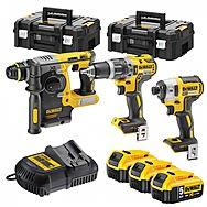 DeWalt DCK368P3T Kit DCD796+DCF887+DCH273 & 3 5.0Ah Batteries