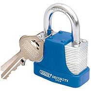 Draper 64181 44mm Laminated Heavy Duty Steel Padlock & 2 Key