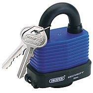 Draper 64178 54mm Weatherproof Steel Padlock with 2 Keys