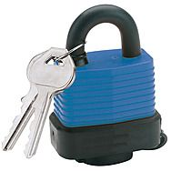 Draper 64176 45mm Weatherproof Steel Padlock with 2 Keys