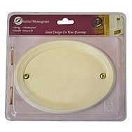 Centurion TC26W Medium White Oval Plaque
