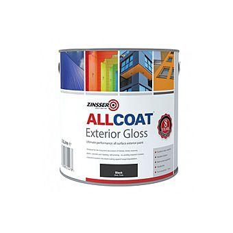 Zinsser AllCoat Exterior Gloss Black Paint 1L