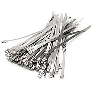 Olympic 100 Pack of 4.6mm x 300mm Stainless Steel Cable Ties