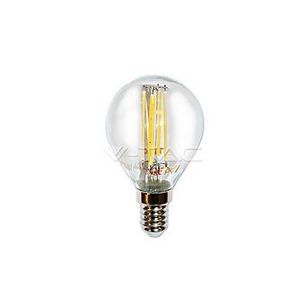 V-Tac 4300 LED Bulb 4W Filament Patent E14 P45 Warm White