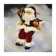 44cm Red Plush Sitting Santa Claus Decoration