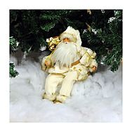 44cm White Plush Sitting Santa Claus Decoration