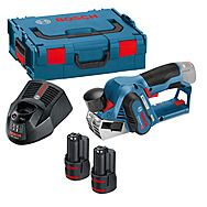 Bosch GHO12V-20 Brushless Compact Cordless Planer & 2x 3.0Ah Batteries