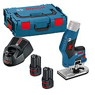 Bosch GKF12V-8 Compact Brushless Cordless Router & 2x 3.0Ah Batteries