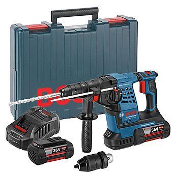 Bosch GBH36VF-LI Plus 36v Brushless Cordless SDSPlus Hammer Drill & 2x 6.0Ah Li-Ion Batteries