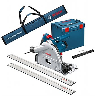 Picture of Bosch GKT55GCE Professional Plunge Saw with 2 1.6m x Rails & Connector