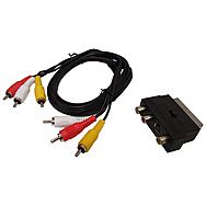 AVSL 1.5M 3 Way RCA Phono Lead with Scart Adaptor
