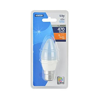 Picture of Status 5.5W LED Candle Warm White Bulb
