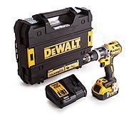 DeWalt DCD796P1 18V XR Compact Brushless Combi Hammer Drill & 5.0Ah Battery