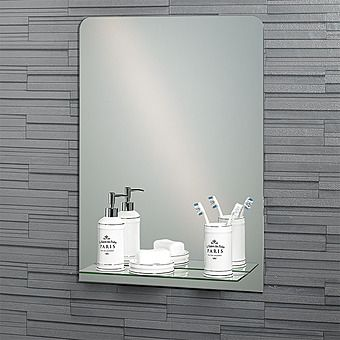 Showerdrape Rochester Rectangular Mirror with Shelf