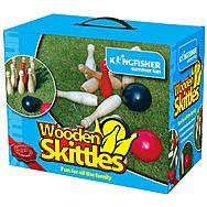 Kingfisher GA016 Wooden Skittles Game