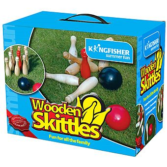 Kingfisher GA016 Wooden Skittles Game