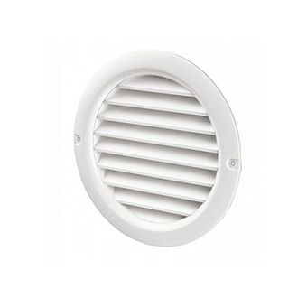 Picture of Round Grille 100mm White Duct Vent