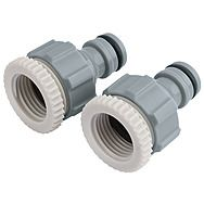 "Draper 25907 Tap Connectors Twin Pack 1/2"" and 3/4"""