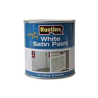 Rustins White Satin Paint Quick Dry 500ml