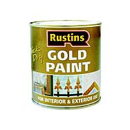 Rustins Gold Wood And Metal Paint 500ml Quick Dry