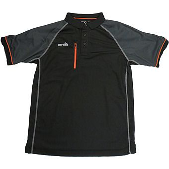 Picture of Scruffs Trade Active Polo Shirt Black