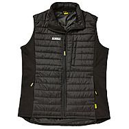 DEWALT FORCE Padded Gilet Soft Shell Body Warmer Black