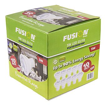 Picture of Fusion 5W = 50W LED Light Bulb 10 Pack 350lm GU10
