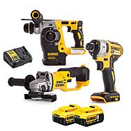 DeWalt DCK305P2T 18v XR Brushless Triple Pack with 2 x 5.0Ah Batteries