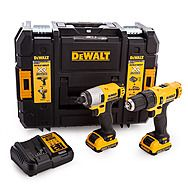DeWalt DCK218D2T 10.8V XR Compact Hammer Drill & Impact Driver Twin Pack with 2x 2.0Ah Batteries