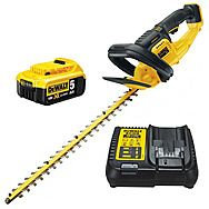 Dewalt DCM563P1 18V XR Cordless 55cm 19mm Hedge Trimmer & 5.0Ah Battery