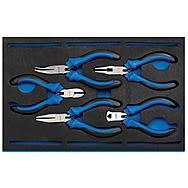 Draper 63215 Precision Plier 5 Piece Set - Quarter EVA Tray