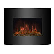 Kingavon 1.8kW Black Curved Electric Fire