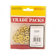 Centurion 78237 Screw Cap Washers Electro Brass Number 8 100 Pack