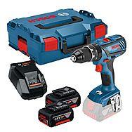 Bosch GSB18V28 18v Hammer Drill with 2 x 5.0Ah Battery Packs