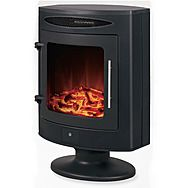 DeVielle 1800W Supreme Electric Black Flame Effect Heater