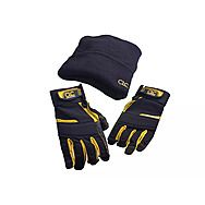 CLC PK4015 Flexgrip Carpenters Fingerless Gloves And Beanie Hat