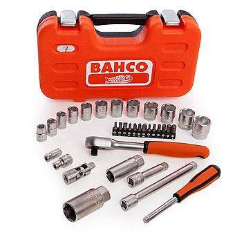 Bahco S330 1/4 inch & 3/8 inch 34 Piece Socket Set