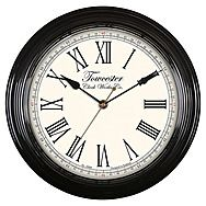 Acctim 26703 Redbourn Vintage Style Wall Clock Black